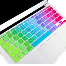 "For Apple Macbook Keyboard Cover 13"" 15"" Rainbow Laptop Keyboard Stickers US&EU Version Silicone Skin Protector Covers"