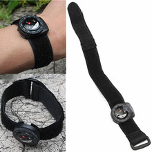 1PC Portable Outdoor Clip-On Watchband Compass Hiking Gear Compasses GPS Nylon Band Bracelet With Closure Useful