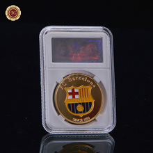 Wr Metal Collectible Number 10 Lionel Messi / Barcelona Gold Plated Coin Argentina Soccer Souvenir Art Crafts Fans Favor(China)