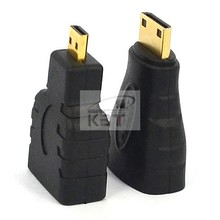 Promotion!! Discount Mini HDMI + Micro HDMI Gold-Plating HD Converter Adapter for Xbox 360 for PS3 HDTV for HTC Evo Cable