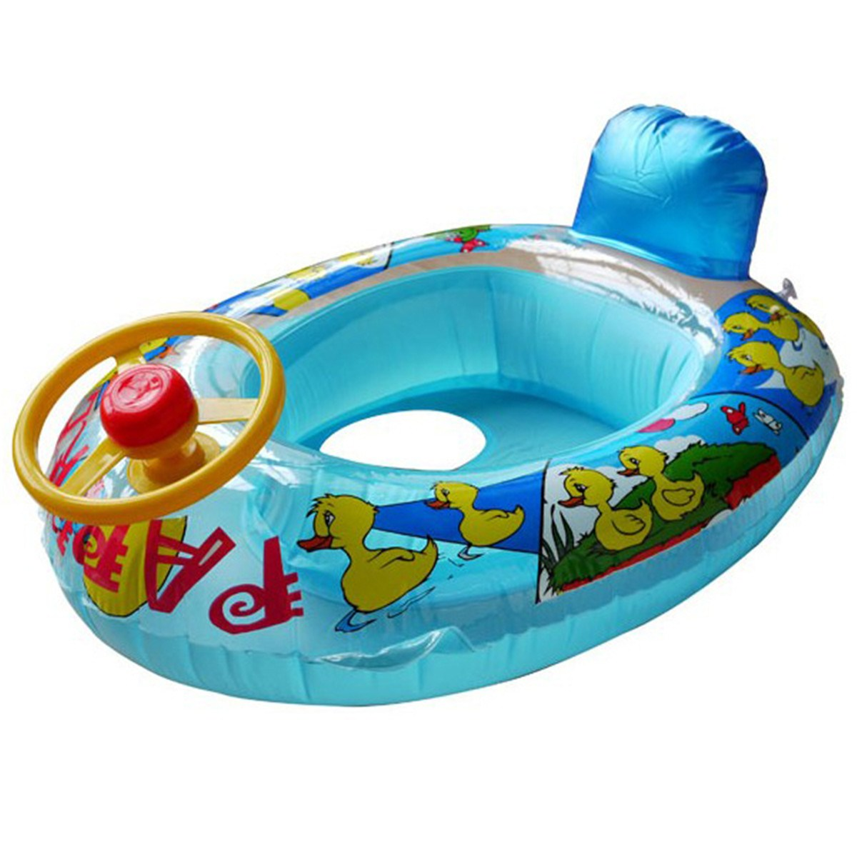 Ages 1-4 years Baby Swim Float Seat Swimming ring with Steering wheel and Horn Swimming Pool Accessories(China)