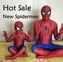 2017 Spiderman costume spiderman suit kids lycra spider-man child and adult spider man halloween cosplay costumes Best quality(China)