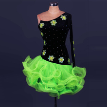 latin dance dress women / girls for Salecha cha, rumba / samba / ballroom dance clothing fitness clothing ladies /children dance(China)
