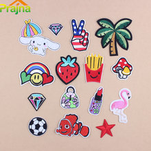 ZOTOONE DIY Badge Embroidered Patch Bag Fruit Rainbow Motfi Cartoon Iron On Patches For Clothing Applique Soccer Diamond Funny(China)