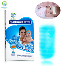 KONGDY Whosale Price 5x12 CM Cooling Gel Patch Bring Fever Down Pain Relief Patch for Baby/Adult Herbal Sent Refreshment