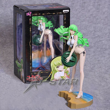 "Free Shipping Sexy 9"" Code Geass C.C. CC Wear Bikini Play Watermelon Ball Boxed 23cm PVC Action Figure Collection Model Doll Toy"