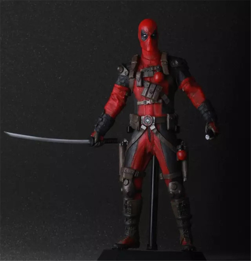 WVW 27CM Hot Sale Comic Hero Deadpool Wolverine X-MEN Play Arts Model PVC Toy Action Figure Decoration For Collection Gift<br>