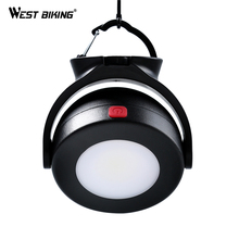 WEST BIKING Camping Lantern LED Mini Bright Light Multi-function Magnetic Portable Outdoor Tent Fishing Traveling Lights Lamp(China)