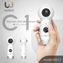 Wunder360 панорамный Камера 360 4 К UHD Dual-объектив видео VR Камера Fisheye Action Cam WI-FI Live Stream для android и iOS смартфон(China)