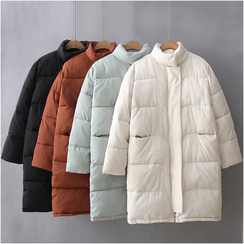 Fashionable Winter Jacket Women Cotton Parkas 2017 New Arrival Padded Full Sleeve Stand Collar Loose Warm Jackets Manteau FemmeÎäåæäà è àêñåññóàðû<br><br>