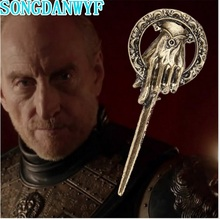 SONGDANWYF New Fashion Game Of Thrones Brooch Song Of Ice And Fire Vintage Punk Hand Of The King Pin For Men And Women Wholesale