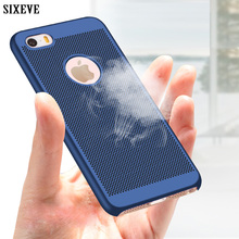 SIXEVE Breathable Ultra-thin Slim Hard Plastic Frosted Case For iPhone 5 5S SE 5SE s Cell Phone Back Cover Housing Casing Coque(China)