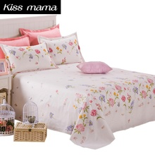 linens bed Set 100% Cotton Bedding set Queen King Size 3 Piece Bed Sheet Size,1 Flat Sheet And 2 Pillow Case