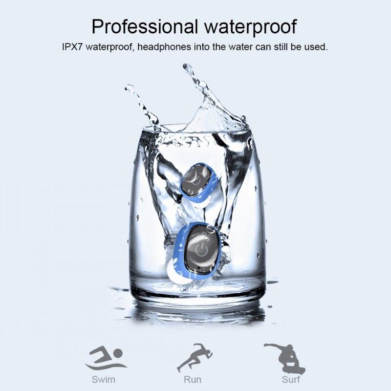 KOWINVIN S2 True wireless Bluetooth Earphones Mini TWS Earbuds IPX7 Waterproof Twins Stereo Music Headset For iPhone Samsung