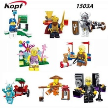 Building Blocks Super Heroes Halloween Multiclass Witch Angel Chef Patriarch King Warrior Knight Bricks Children Gift Toys 1503A(China)