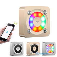 1000mAH Mini Subwoofer Portable Bluetooth Speaker With Flashing LED Lights Metal Stereo Loudspeaker For Iphone Samsung Xiaomi(China)