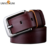 UNIVOS KUNI Belts For Men With Black Belt Body No Buckle Design Suitable For Business Men Waistband 110 to 125cm Fasion Z2428(China)