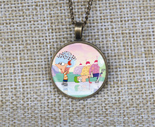 Wholesale cute cartoon boys Phineas and Ferb necklaces Custom pictures pendant necklace collares jewelry gift ideas
