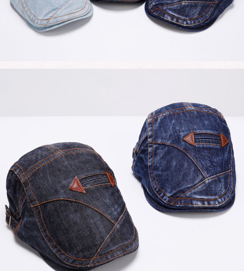 Adult Gift Wash old Denim Peaked Cap Outdoors Casual Ivy Hats Woman Autumn  And Winter Beret Caps - us239 9b27b090ed
