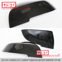 F22 Carbon Fiber + ABS Replacement Auto Mirror Cover Caps For BMW 2012 - 2015 2 Series F22 M235i 220i Mirror Cap Door Side Wing
