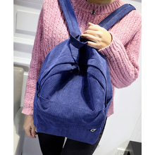 Women Backpack Solid Corduroy Backpack Simple Tote Backpack School Bags For Teenager Girls Students Shoulder Bag Travel Bag W637
