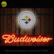 NEON SIGN For Budweiser Pittsburgh Steelers Cincinnati Bengals Boston Bruins Green Bay Packers Dallas Stars Miami Dolphins Eagle(China)