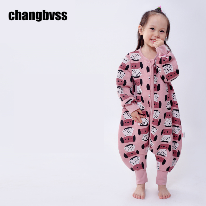 Spring Autumn Baby Sleeping Bag Baby Sleepwear Clothes Boys Girls Kids Sleep Sacks Children Blankets Long-Sleeve Kids Rompers<br>