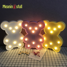 Meaningsfull Cute Cartoon Bear Animal Led Night Lights Baby Room Sleeping Night Lamps Bedroom Desk Lamp For Kids Birthday Gifts(China)