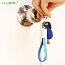 FLOVEME Portable Key Design Mini USB Cable for iPhone Wire Sync Data Phone Charging Cables for iPhone 7 6 6s Plus 5s iPad Air