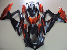 Injection mold Fairing Kit for SUZUKI GSXR 600 750 K8 08 09 GSXR600 GSXR750 2008 2009 ABS Orange black Fairings set+7gifts SE25