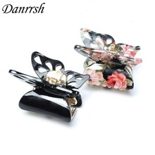 2pcs/lot 4cm Cute Multicolor Butterfly Shape Top Quality Acylic Hair Clips Small Size Girl Hair Claws Hairpin Hair Accessory(China)