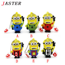 JASTER Genuine memory stick novelty lovely minions 4GB 8GB 16GB 32GBusb flash drives pen drives Free ship mini gift
