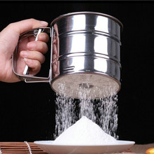 New Stainless Steel Sieve Cup Powder Flour Sieve Mesh Knife Baking Tools Pastry Tools