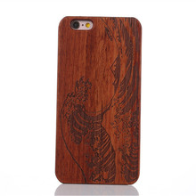 Retro Waves Spray Carving Wood + PC Phone Case For IPhone 7 7plus 6 6s plus 5 5G 5S SE 4 4S 4G Natural Wooden Hard Case Cover