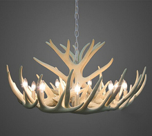 European Country Deer Pendant Lamp Resin Vintage white deer pendant lamp free EMS shipping