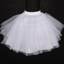 High Quality White Tulle Layers Puffy Little Girl Wedding Petticoat 2017 Wedding Accessories Underskirt  Baby Girl Tutu Skirt