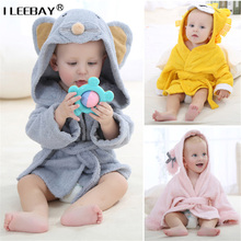 Newborn Fashion Cute Hooded Animal Modeling Cloak Baby Bathrobe Cartoon Toddler Towel Kids Bath Robe Infant Absorbent Bath Towel(China)