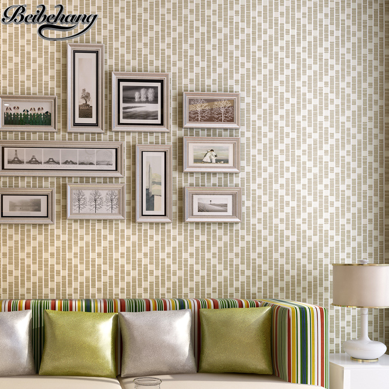 beibehang Modern non-woven wallpaper simple bedroom study room living room wallpaper mosaic background wallpaper papel de parede<br>