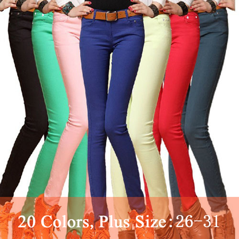 Fashion Women Sexy Candy Color Pencil Pants/Casual pants/Skinny Pants With Cotton Summer Trousers Fit Lady jeans Free Shipping 3Одежда и ак�е��уары<br><br><br>Aliexpress