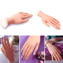 Beauty Nail Art Machine Tools For Soft Practice Hand Flexible Silicone Prosthetic Hand Manicure Tool(China)