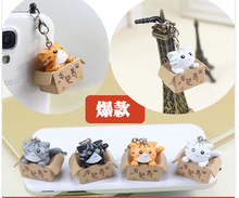 $10 free shipping New arrival kpop cute cat dust plug 4 color for cell phone iphone samsung xiaomi fashion kawaii earphone cap(China)