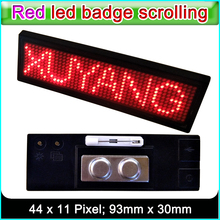 XY-B1248R Red LED badge Scrolling advertising LED name sign, Indoor Red LED display panel(China)