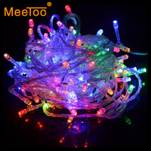 New arrival String Lights RGB 220V 110V 10M 100LED Lamps Christmas Light For Wedding Party Decorations Garland Lighting In EU US(China)