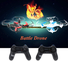Sky Fighter 1 Pair(white and black)rc drone YD-822 2.4G 4CH 6-Axis Gyro RTF RC Quadcopter Battle with Infrared Combat Function(China)