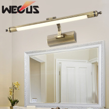 56cm american vintage bedroom makeup mirror light europe copper washroom wall lamp hotel preferred fitment lights