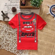 2016 New Kids Tops Cute Hot Sale Cartoon Cars Kids Baby Boys  Short Sleeve Summer Tops T-shirt Tees Clothes