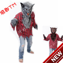 2018 New Halloween Costumes Werewolves Clothing The Wolf Clothes Evil Adult Wolves Suit Real Special Offer(China)