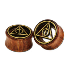 2pcs fashion wood ear plugs and tunnels wooden gauge double flare 8mm-20mm body piercing jewelry anti-allergic for men women new