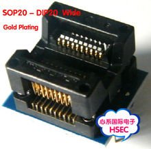 Free Shipping sop20 to dip20 adapter Wide 200-208mil / SOIC20 to DIP20 Socket IC programmer adapter(China)