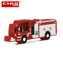 Pendrive Fire Truck USB Flash Drive Pen Drive Car Toy U Disk 4GB 8GB 16GB 32GB 64GB Flash Drive 2.0 Memory Sticks Free Shipping(China)